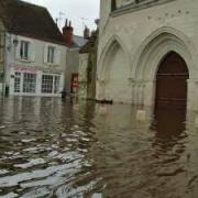 l'église St Etienne inondée